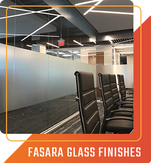 Sun Control Plus offers Fasara Glass Finishes available in our Commercial Window Films. This is perfect for office buildings.